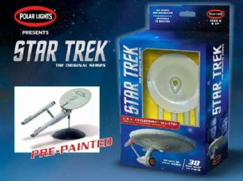 STAR TREK ENTERPRISE 1701 1:1000 SCALE SNAP FIT MODEL KIT POLAR LIGHTS